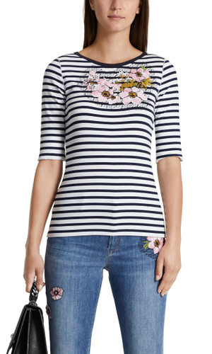 Marc Cain Shirt mit Stickerei-Patches – Bild 1