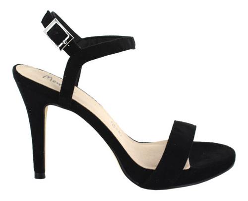 Menbur High Heel Sandaletten velours schwarz