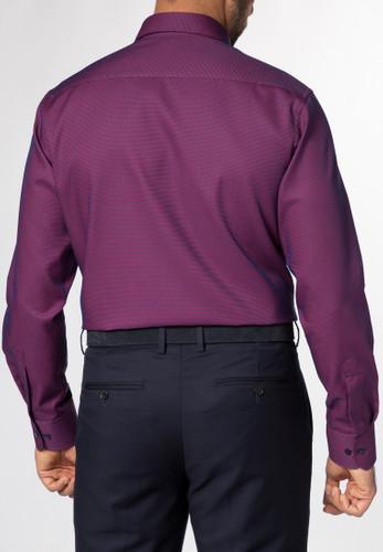 Eterna Langarm Hemd Modern Fit Fantasiebindung rot/blau kariert