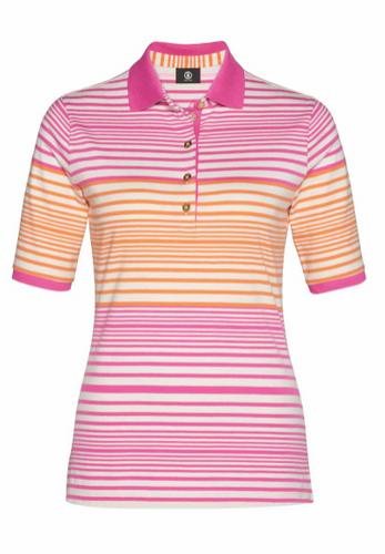 Bogner Poloshirt Nadina gestreift pink – Bild 1