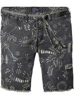 Scotch&Soda Shorts floral grau Garment Dye 001