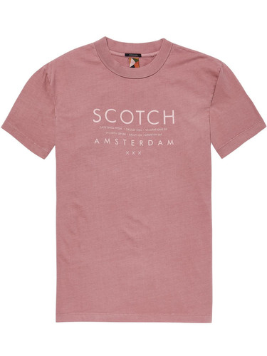 Scotch & Soda Herren T-Shirt mit Logo Aufdruck