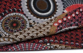 styleBREAKER Feinstrick Loop Schlauchschal mit Ethno Punkte African Style Muster, Schal, Damen 01017042 – Bild 7