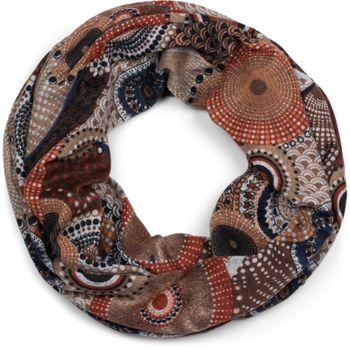 styleBREAKER Feinstrick Loop Schlauchschal mit Ethno Punkte African Style Muster, Schal, Damen 01017042 – Bild 13