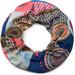 styleBREAKER Feinstrick Loop Schlauchschal mit Ethno Punkte African Style Muster, Schal, Damen 01017042