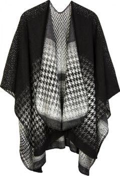 styleBREAKER Cape mit Pepita Hahnentritt Muster, Umhang, Überwurf, Poncho, Wendeponcho, Damen 08010030 – Bild 2