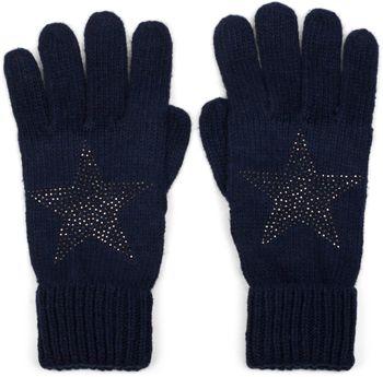 styleBREAKER warme Handschuhe mit Strass Nieten Stern Applikation und doppeltem Bund, Strickhandschuhe, Damen 09010008 – Bild 7
