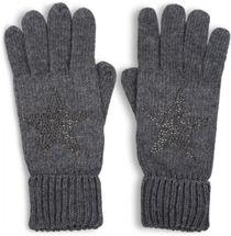 styleBREAKER Damen Handschuhe mit Strass Nieten Stern Applikation und doppeltem Bund, warme Strickhandschuhe, Fingerhandschuhe 09010008 – Bild 6