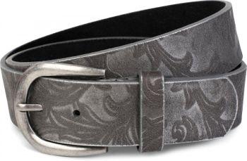 styleBREAKER Gürtel mit weichem, geprägtem Ornament Muster, kürzbar, Unisex 03010076 – Bild 3