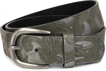 styleBREAKER Gürtel mit weichem, geprägtem Ornament Muster, kürzbar, Unisex 03010076 – Bild 4