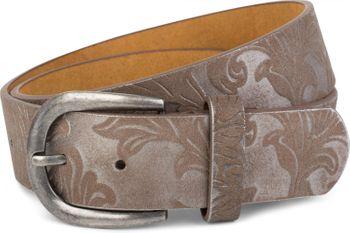 styleBREAKER Gürtel mit weichem, geprägtem Ornament Muster, kürzbar, Unisex 03010076 – Bild 5