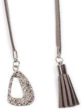 styleBREAKER Choker Kette mit Rosen Anhänger und verzierten Enden, Karabinerverschluss, Quaste und Ornament, Necklace, 3-reihig, Damen 05030027 – Bild 5
