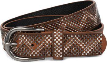 styleBREAKER Nietengürtel mit 2-farbigen Nieten im Zacken Look, Vintage Gürtel, kürzbar, Unisex 03010069 – Bild 7