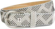 styleBREAKER Nietengürtel mit 2-farbigen Nieten im Zacken Look, Vintage Gürtel, kürzbar, Unisex 03010069 – Bild 9