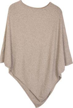 styleBREAKER Damen Feinstrick Poncho in Unifarben, leicht asymmetrischer Schnitt, Ärmellos, Rundhals 08010042 – Bild 2