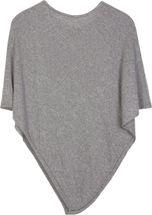 styleBREAKER Damen Feinstrick Poncho in Unifarben, leicht asymmetrischer Schnitt, Ärmellos, Rundhals 08010042 – Bild 6