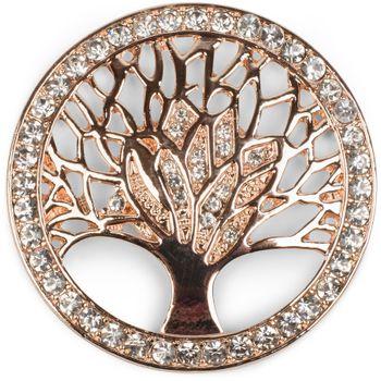 styleBREAKER Lebensbaum Magnet Schmuck Anhänger für Schals, Tücher oder Ponchos mit Strassteinen, Brosche, Damen 05050029 – Bild 2