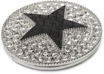 styleBREAKER runder Magnet Schmuck Anhänger für Schals, Tücher oder Ponchos, mit schwarzem Stern und Strass, Damen 05050030 – Bild 5