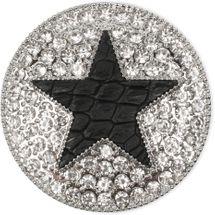 styleBREAKER runder Magnet Schmuck Anhänger für Schals, Tücher oder Ponchos, mit schwarzem Stern und Strass, Damen 05050030 – Bild 1