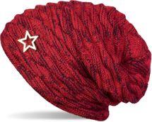 styleBREAKER warme Feinstrick Beanie Mütze mit Wellen Muster und Schmuck Stern, sehr weiches Fleece Innenfutter, Unisex 04024099 – Bild 5
