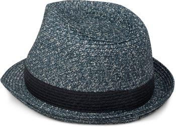 styleBREAKER klassischer Trilby Hut in Melange Optik mit Krempe, Papierhut, Strohhut, Unisex 04025018 – Bild 5