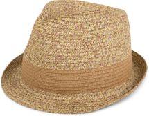 styleBREAKER klassischer Trilby Hut in Melange Optik mit Krempe, Papierhut, Strohhut, Unisex 04025018 – Bild 1