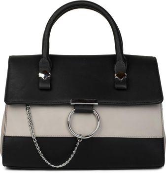 styleBREAKER Satchel Henkeltasche im 2-Tone Design mit Metall Ring und Kette, Handtasche, Tasche, Damen 02012125 – Bild 4