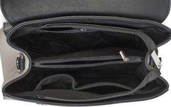 styleBREAKER Satchel Henkeltasche im 2-Tone Design mit Metall Ring und Kette, Handtasche, Tasche, Damen 02012125 – Bild 12