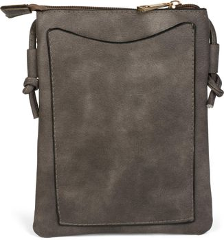 styleBREAKER Minibag Umhängetasche mit Blumen Cutout Muster und Nieten, Schultertasche, Tasche, Damen 02012127 – Bild 8