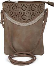styleBREAKER Minibag Umhängetasche mit Blumen Cutout Muster und Nieten, Schultertasche, Tasche, Damen 02012127 – Bild 1
