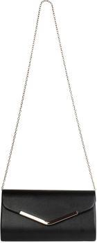 styleBREAKER Clutch Abendtasche im Envelope Kuvert Design mit Zierleiste aus Metall und abnehmbarer Kette zum umhängen, Damen 02012131 – Bild 5