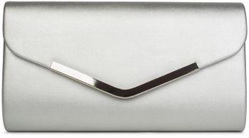 styleBREAKER Clutch Abendtasche im Envelope Kuvert Design mit Zierleiste aus Metall und abnehmbarer Kette zum umhängen, Damen 02012131 – Bild 3