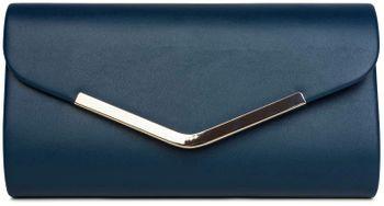 styleBREAKER Clutch Abendtasche im Envelope Kuvert Design mit Zierleiste aus Metall und abnehmbarer Kette zum umhängen, Damen 02012131 – Bild 1