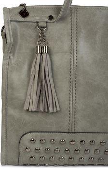 styleBREAKER Henkeltasche mit Nieten Applikation und Quasten, Shopper, Umhängetasche, Handtasche, Tasche, Damen 02012136
