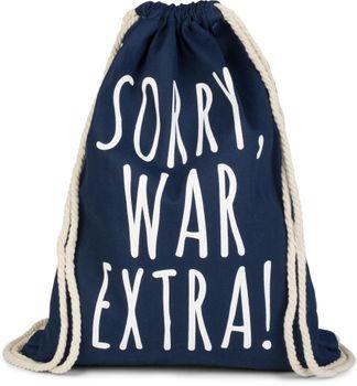 styleBREAKER Statement Turnbeutel mit 'SORRY, WAR EXTRA!' Aufdruck, Rucksack, Sportbeutel, Beutel, Unisex 02012142 – Bild 6