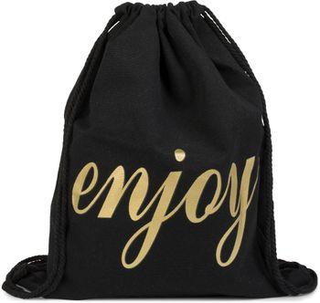 styleBREAKER Statement Turnbeutel mit 'enjoy' Aufdruck in Canvas Optik, Rucksack, Sportbeutel, Beutel, Unisex 02012143 – Bild 1