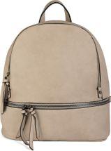 styleBREAKER Kunstleder Rucksack Handtasche mit Reißverschlüssen, edler Style, Tasche, Unisex 02012147 – Bild 3