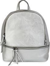 styleBREAKER Kunstleder Rucksack Handtasche mit Reißverschlüssen, edler Style, Tasche, Unisex 02012147 – Bild 6
