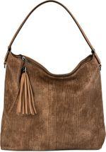 styleBREAKER Hobo Bag Handtasche im Vintage used Look, Quaste, Henkeltasche, Shopper, Tasche, Damen 02012149 – Bild 2