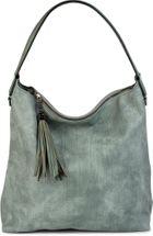 styleBREAKER Hobo Bag Handtasche im Vintage used Look, Quaste, Henkeltasche, Shopper, Tasche, Damen 02012149 – Bild 3