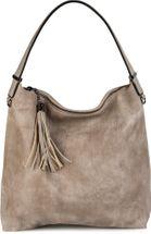 styleBREAKER Hobo Bag Handtasche im Vintage used Look, Quaste, Henkeltasche, Shopper, Tasche, Damen 02012149 – Bild 7