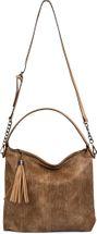 styleBREAKER Hobo Bag Handtasche im Vintage used Look, Quaste, Henkeltasche, Shopper, Tasche, Damen 02012149 – Bild 10