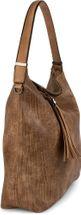 styleBREAKER Hobo Bag Handtasche im Vintage used Look, Quaste, Henkeltasche, Shopper, Tasche, Damen 02012149 – Bild 8