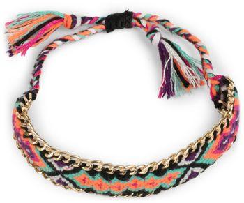 styleBREAKER geknüpftes Armband mit Kette im Ethno Design, Schiebeverschluss, Schmuck, Damen 05040080 – Bild 6