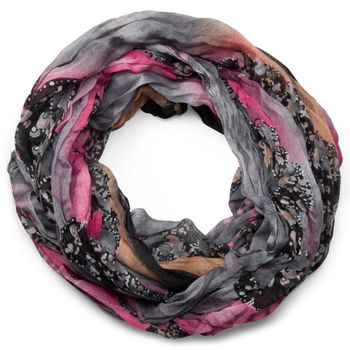 styleBREAKER loop tube scarf in maritime shell pattern, crash and crinkle, cloth 01018023 – Bild 10