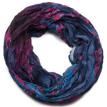 styleBREAKER loop tube scarf in maritime shell pattern, crash and crinkle, cloth 01018023 – Bild 9