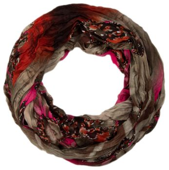 styleBREAKER loop tube scarf in maritime shell pattern, crash and crinkle, cloth 01018023 – Bild 8