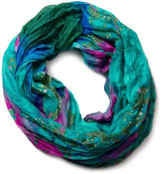 styleBREAKER loop tube scarf in maritime shell pattern, crash and crinkle, cloth 01018023 – Bild 1