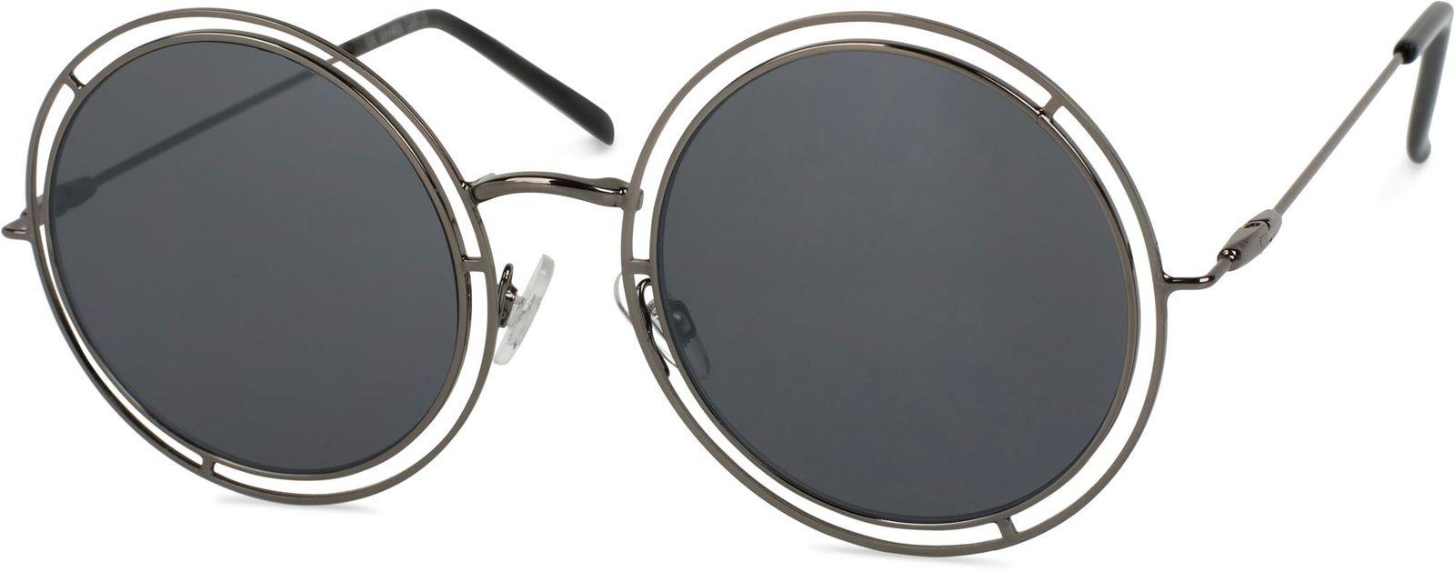 sonnenbrille mit runden gl sern doppeltem rahmen 1124. Black Bedroom Furniture Sets. Home Design Ideas
