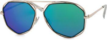 styleBREAKER Duochrome Effekt Sonnenbrille, Aviator Pilotenbrille mit eckigen Gläsern und Federscharnier, Unisex 09020068 – Bild 2